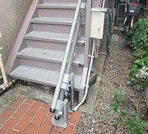 東京都豊島区/O邸 <p>屋外曲がり階段</p>の事例