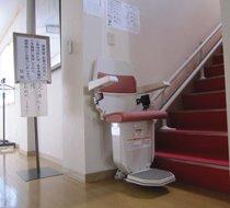 北海道士別市/某寺 屋内曲がり階段の設置事例